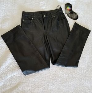 Newport news jeanology leather pants